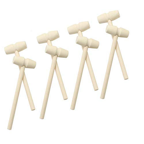 top 10 wooden mallets JETEHO wooden crab hammer set of 10, seafood, lobster, crackers, crustaceans, leather mallets …
