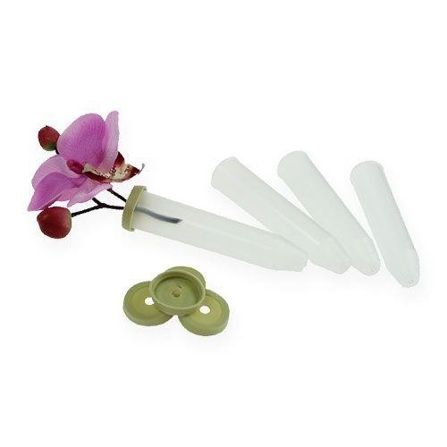 10 Stück Orchideenröhrchen Gesteckröhrchen Blumenröhrchen Wasserröhrchen (7,5 CC, 13 x 80 mm)
