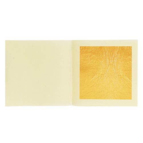 """VGSEBA Edible 24K Gold Leaf Sheets, 30 Sheets 1.7"""" x 1.7"""" Pure Genuine Gold Leaf Paper for Facial Mask, Health & Spa, Cooking, Cakes & Chocolates, Decoration"""