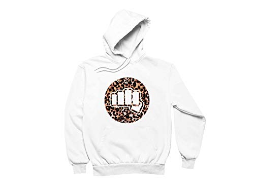 Women's Cobra Kai Funny Pullover Long Sleeve Design Hoodie with Pocket White Large