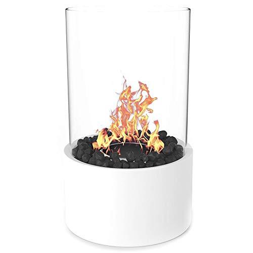 Regal Flame Indoor Outdoor Eden Ventless Tabletop Portable Bio Ethanol Fireplace - White
