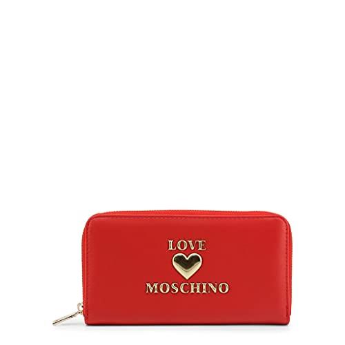 Moschino Portafoglio donna Love zip around in ecopelle rosso AS21MO05 JC5617