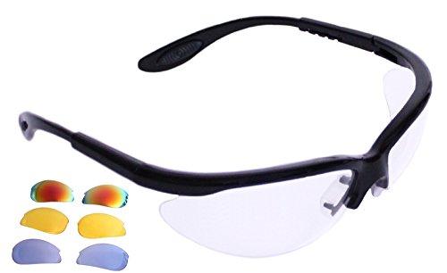 Python RG Multi Lense Racquetball (Squash) Eye Protection w/Free case (Eyewear, Goggle, Eyeguard) - Black