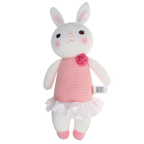SM SunniMix Lindo Juguete de Felpa Suave Encantadora Muñeca de Conejo Desarrollo Bebé Juguetes Regalo de Cumpleaños - Rosado