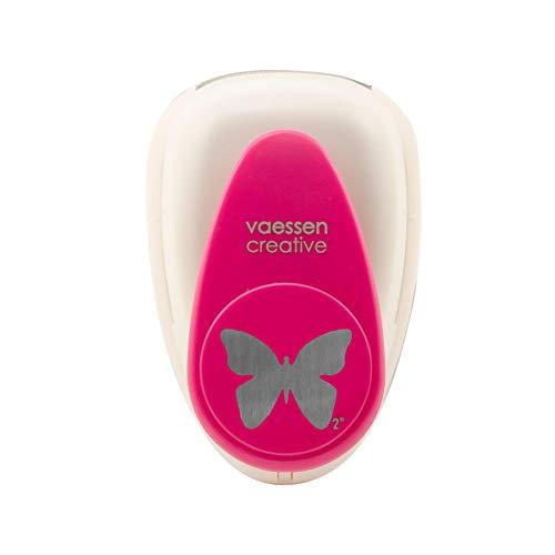 Vaessen Creative Motivstanzer Groß Schmetterling 5, Jumbo Stanzer | Motivlocher | Ausstanzung 40,3 x 30,2 mm, Metall, Purple, 12.7 x 8.5 x 6.7 cm