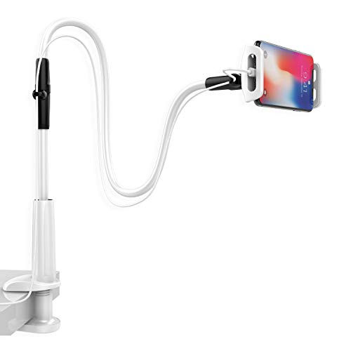 Cell Phone Holder, Lamicall Gooseneck Phone Holder : Adjustable Phone Mount Cradle Stand Compatible with Switch, Phone 11 Pro XS Max XR X 8 7 6 6s Plus, More 4.7-7.9 inch Devices