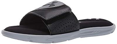 Under Armour Men's Ignite VI SL Slide Sandal, Black (002)/Steel, 10 M US