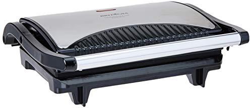 Sanduicheira e grill, Press inox, Preto, 110V, Britânia
