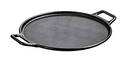 "Lodge Pre-Seasoned Cast Iron Baking Pan With Loop Handles, 14"", Black"