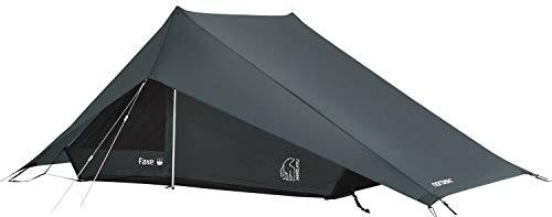 Nordisk - FAXE 2 SI vielseitiges Zelt, windresistent, wasserdicht, 3 in 1 Konstruktion, reißfester Nylon Rip Stop mit Silikon Beschichtung, 2-Personenzelt, Petroleum-Blau