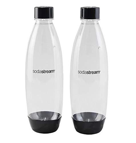 SodaStream Twinpack Fuse Carbonating Bottles, 2 x 1L, Schwarz (Der Artikel ist nicht kompatibel mit Genesis)