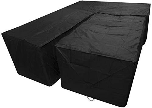 dDanke Housse de canapé d'angle imperméable en polyester pour extérieur 200 x 270 x 126 x 194 x 90 x 72 cm avec housse de table 155 x 95 x 68 cm
