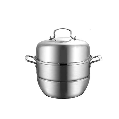 Great Features Of ,food SteamerSteamer stainless steel three-layer thick multi-layer steamer two-layer steam pot cooking pot cover glass cover,food Steamer-A-28CM
