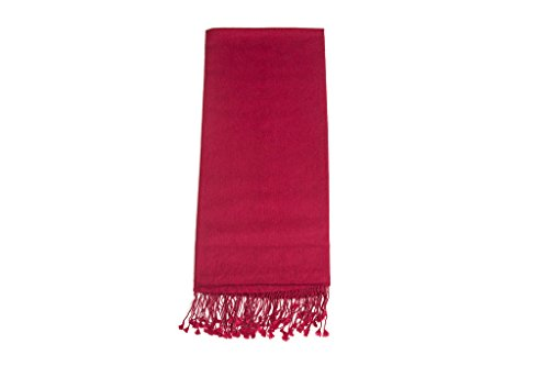 Ritz Collection Ritz Collection Damen Pashmina Seide Schals, rot
