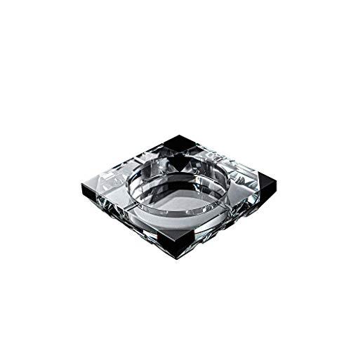 Cenicero para Exterior e Interior Cristal de cristal Cenicero sin cubierte Cenicero al aire libre Oficina Oficina Oficina Decoración de escritorio Transparente Cenicero Fumar Regalo para Hogar Oficina