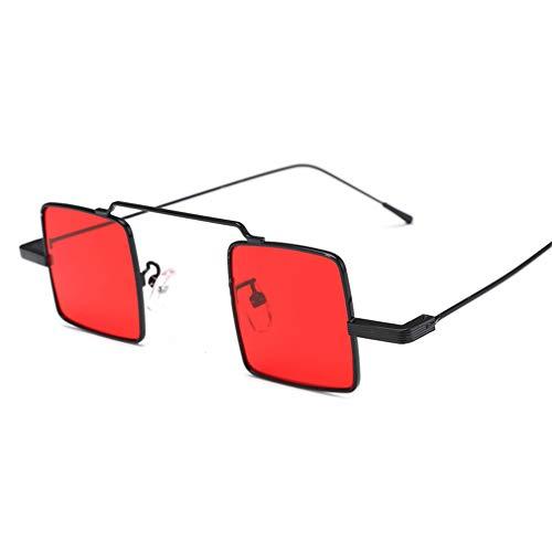 YODZ Gafas De Sol Punk para Mujer Gafas De Sol Al Aire Libre Gafas De Sol Cuadradas UV400 Protección Mujeres Conduciendo Gafas, para Ciclismo De Pesca Corriendo,Rojo