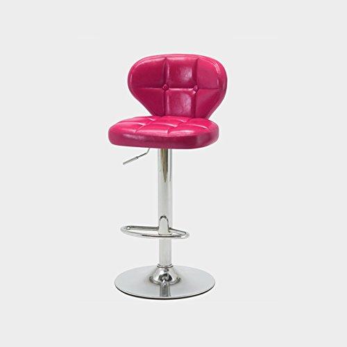 Dall Tabourets FL-117 Dossier Confort Tabouret De Bar Haut Pied Tabouret Banc Avant Chaise d'accueil Rotatif L Goutte Haut 85-105cm (Couleur : Pink)