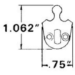 Baldwin 8300.EMHT Emhart Cam Cylinder Accessory, Unfinished Brass