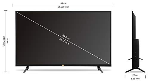 VW 100 cm (40 inches) HD Ready Smart LED TV VW40CA (Black) (2021 Model)