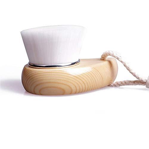 Haut Poignée en bois/plastique Facial Doux Fibre douce Visage Nettoyer La brosse de lavage Nettoyant en profondeur Brosse Outil de traitement exfoliant