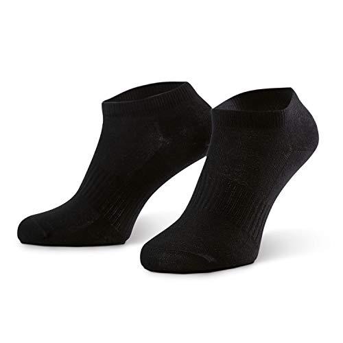 Eono Amazon Brand Sneaker Socken für Herren und Damen (10er-Pack), Low-Cut Füßlinge für Arbeit, Sport und Freizeit (10-Paar, Schwarz, EU 39-42, UK 6-8)