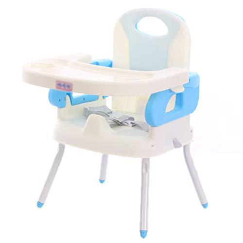 Qujifangedcy Kinderen Eetkamerstoel, Vouwen Draagbare Multifunctionele 4 in 1 Afneembare Verstelbare Kid Kinderstoel Eet met Speeltafel, voor Thuis, voor 0-4 Jaar Oude Kinderen
