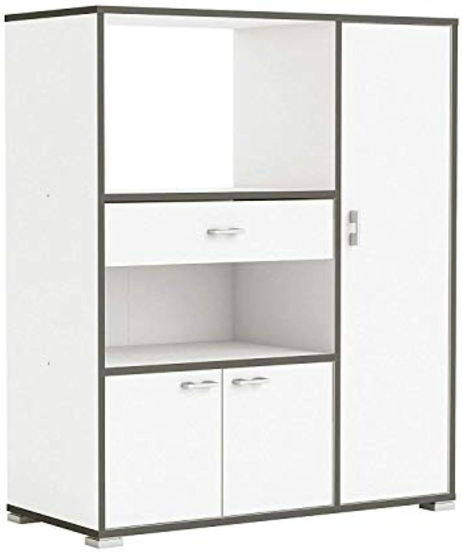 Habeig Küchenschrank 955 Schrank Küchenregal Küchenmbel Mikrowelle Singleküche Küche