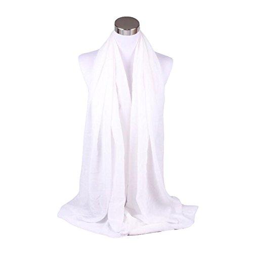Wimagic - Pañuelo de algodón de lino para hombre y mujer, color negro y blanco, algodón lino, blanco, 180x90cm
