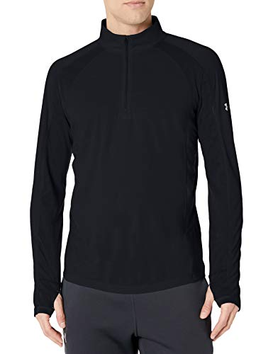 Under Armour UA Swyft 1/4 Zip Maillots Manches Longues Homme, Black/Black/Reflective (001), FR : S (Taille Fabricant : SM)