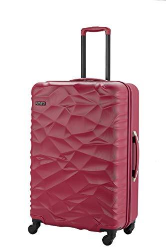Pianeta Iceland robuster ABS Polykarbonat Mix Hartschalen Koffer Trolley mit 4 Rollen in 3 Farben (Berry Rot XL)