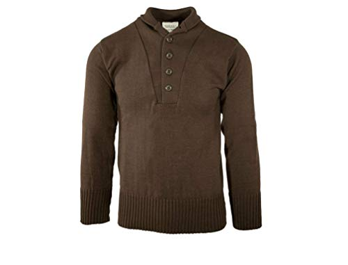 Sweater, 5 Button, John Ownbey, Brown, Size 3XL