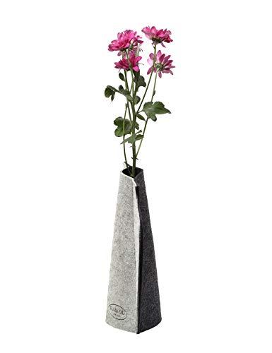 RAIKOU Vaas van vilt, bloemenvaas, soff bloemenvaas, decoratieve vaas, set van decoratie, flessenommanteling, universele vaas, opvouwbare vaas