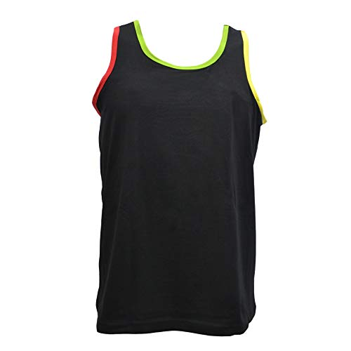 BaronHong Tomboy Trans Lesbian Cotton Chest Binder Plus Size Long Tank Top Outerwear(Black,5XL)