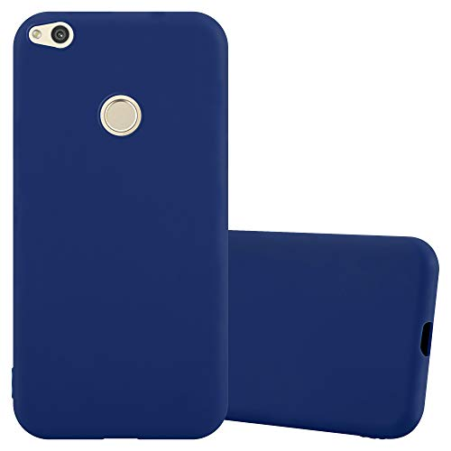 Cadorabo Coque pour Huawei P8 Lite 2017 / P9 Lite 2017 en Candy Bleu FONCÉ - Housse Protection Souple en Silicone TPU avec Anti-Choc et Anti-Rayures - Ultra Slim Fin Gel Case Cover Bumper