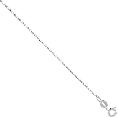 Sterling Silver fine Boston Link Chain Necklace 1mm Very Thin Nickel Free Italy 18 inch