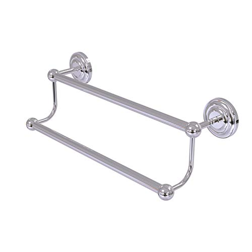 Allied Brass PQN-72/36-PC 36-Inch Double Towel Bar, Polished Chrome