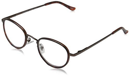 I Need You WINDSOR, G16700, Metallbrille mit Federtechnik und Etui, 2.50 dpt, braun