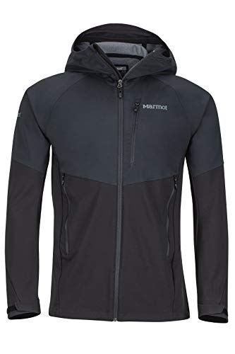 Marmot Men ROM Jacket Softshelljacke, Funktions Outdoor Jacke, Wasserabweisend, Black, L