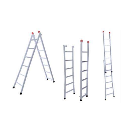 Escada Extensiva Cinza 3 Em 1 Ferro 7x12 Degraus 3,80m 120kg 207P-NV