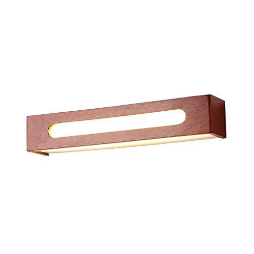 LED-binnenverlichting voor badkamer met licht, wandlamp IP44 van hout, modern, warm wit, 8 W, voor garderobekast hal, 35 cm (14 inch)