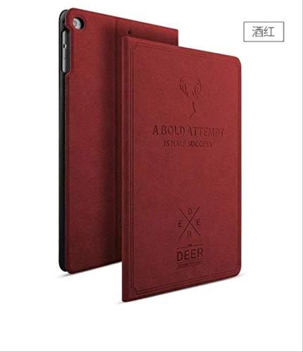 OOOXXX Mode Für Ipad Air 2 Smart Awakening Leder Luxusabdeckung Hirsch Lederjacke Schutz Für Ipad Air 2 Großhandel Rotwein