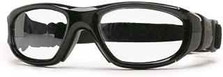 Protective Sports Eyewear- Maxx 21 - Shiny Black/ Silver Flash