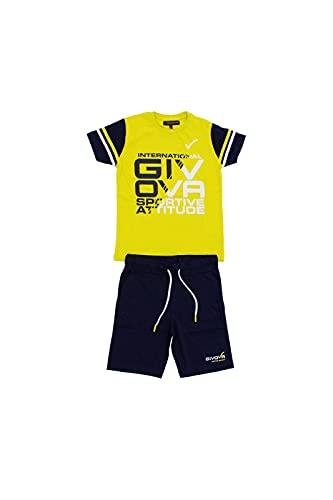 givova - Mono de verano de algodón para niño, compuesto de camiseta y pantalón corto bermuda, disponible en varios colores. Verde 3 años