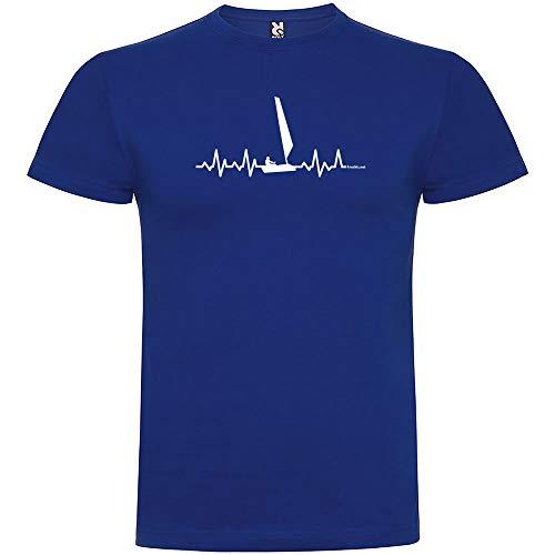 Camiseta Náutica Sailing Heartbeat Manga Corta Hombre Azul Royal XL