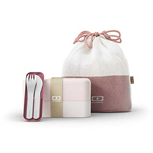 monbento - Lunch box set rosa Natural -...