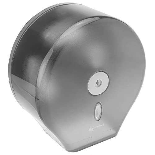 PrimeMatik - Distributore di Carta igienica. Porta Rotolo Industriale Nero per Il Bagno 268x130x280mm