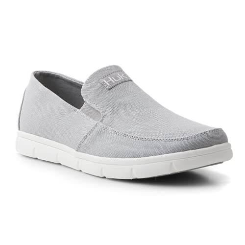 HUK Brewster Slip On Shoe | Wet Traction Fishing & Deck Shoes, Gray, 10