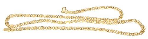 Hobra-Gold Goldkette 585 Irrgangkette 50 cm Halskette S-Panzerkette 14 Karat