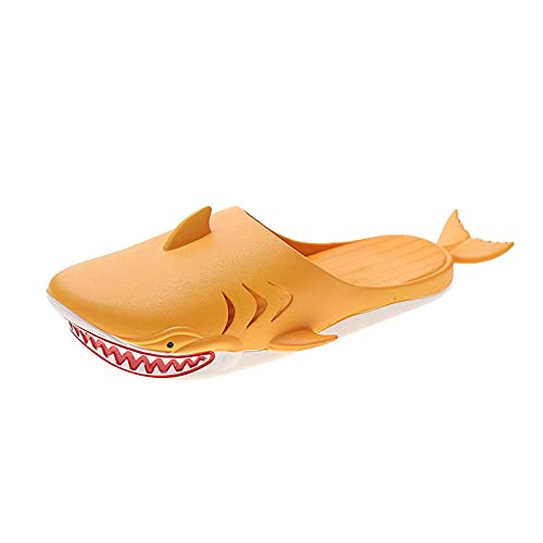 MDCGL Zapatos De Piscina Zapatillas de casa para Hombres y Mujeres,Zapatos de Playa para Piscinas Interiores al Aire Libre,Playas,gimnasios Naranja EU36
