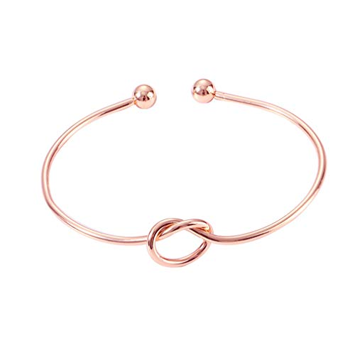 Damen-Armreif/Armreif mit Knoten, elastisch, goldfarben/silberfarben